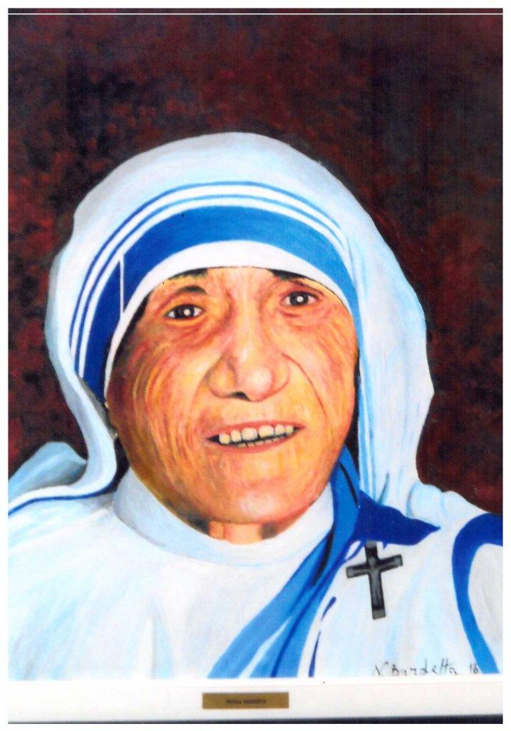 """""""Ritratto di Madre Teresa"""" - olio su tela - 40x50"""